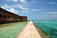 Perspective on Fort Jefferson Moat, Dry Tortugas National Park